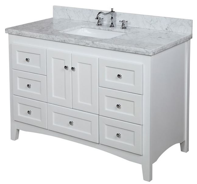 48 Inch White Free Standing Vanities For A Bath Renovation