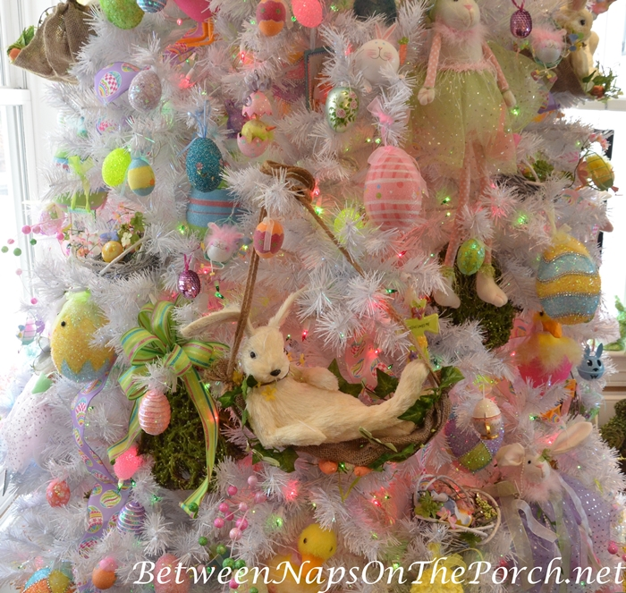 White Tree Decorated for Easter