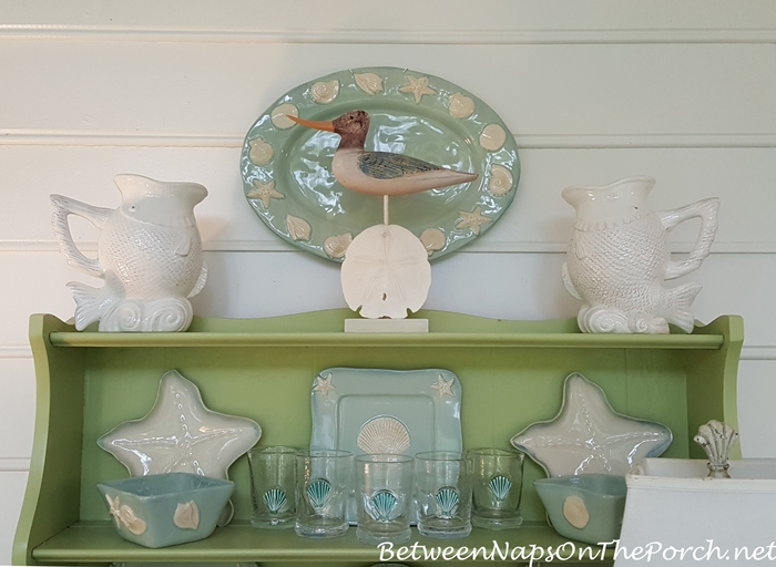 Beach Dishware for a Hutch