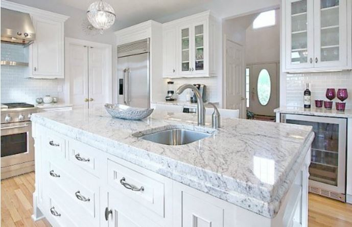 Bianco Romano Granite, Similar Look To Carrara Marble