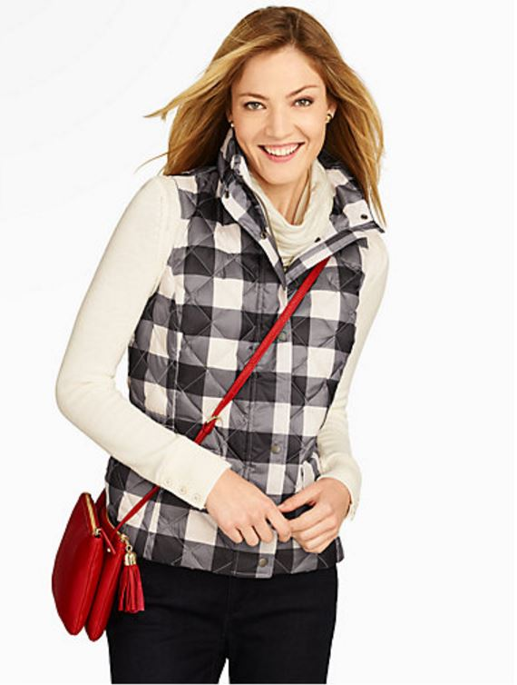 Buffalo Plaid Black White Vest