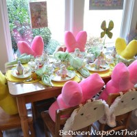 A Spring Table Setting for the Little Ones