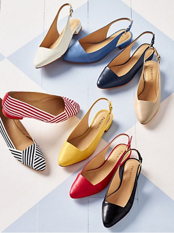 Colorful Slingback Flats for Summer