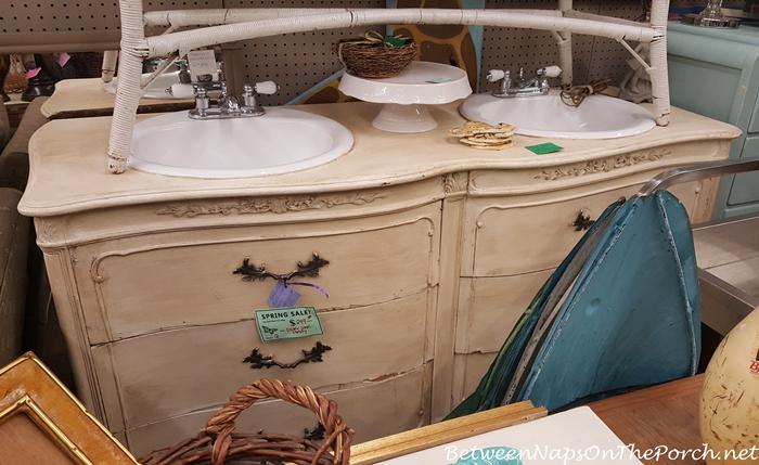 Dresser Vanity with Double Sinks