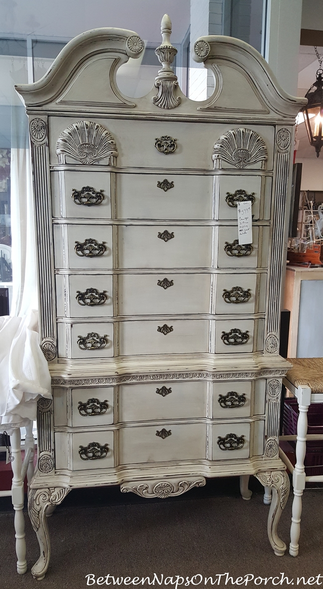 Painted Highboy in Antique White Color