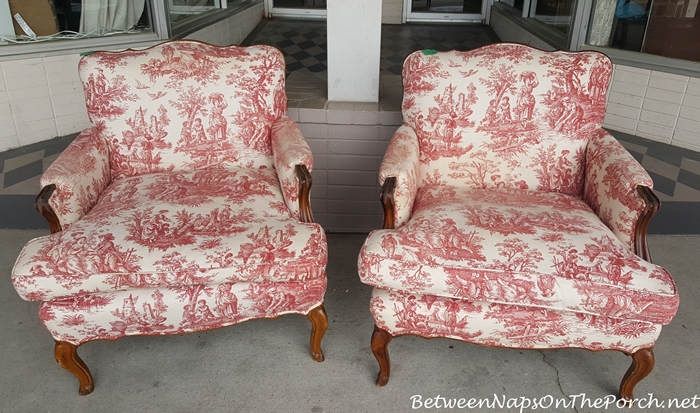 Pair of Toile French Chairs