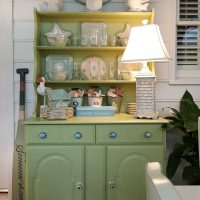 Porch Hutch with Beach Makeover