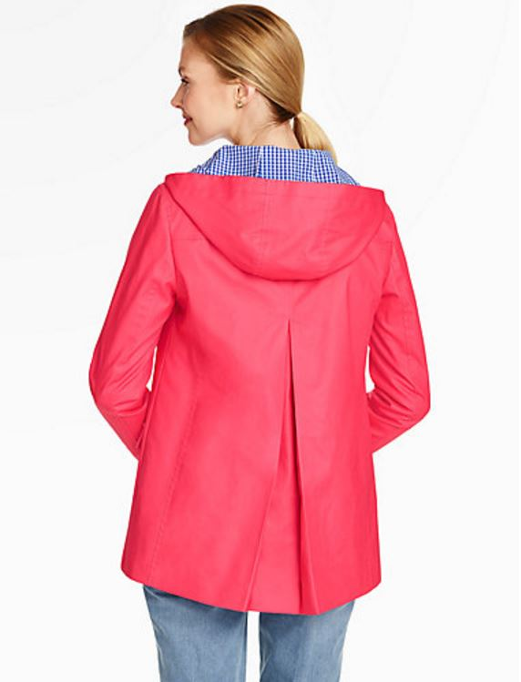 Raincoat, Pleated Back