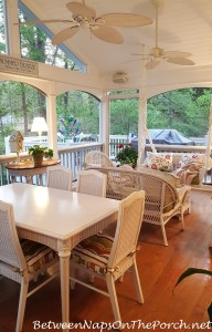 Screened Porch Ready for Spring Entertaining