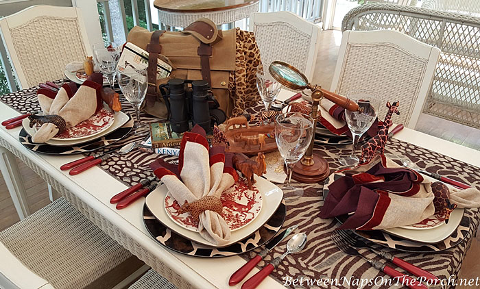 African Safari Table Setting & An African Safari Themed Table Setting