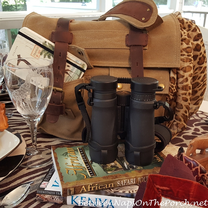 African Safari Themed Tablescape Table Setting