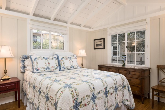 Carmel by the Sea Cottage Bedroom with Raised Ceiling