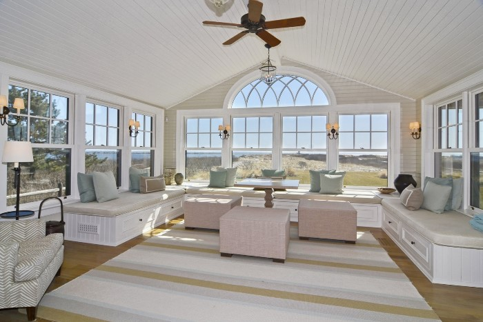 Catherdral window, Raised Ceiling, Seaside Home, Old Saybrook