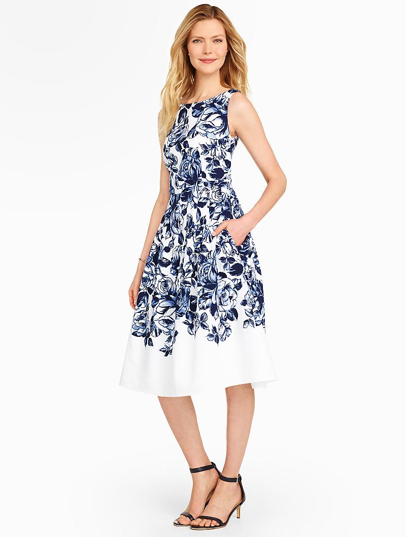 Dress in Blue and White for Summer