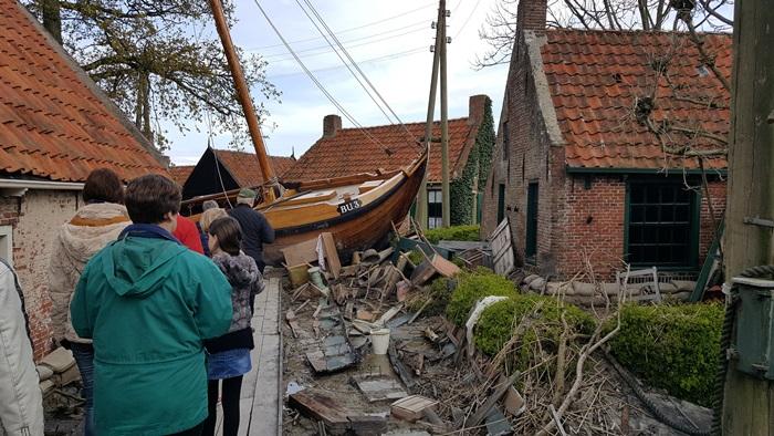 Flood in Zuiderzee, Enkhuizen, Holland