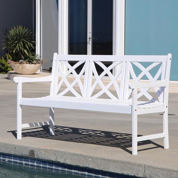 Garden Bench in White