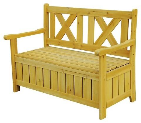 Garden Patio Bench with Storage Under the Seat