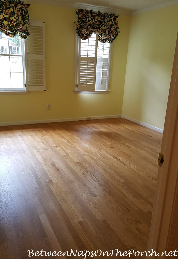 Hardwood Flooring After Install and One Coat of Poly