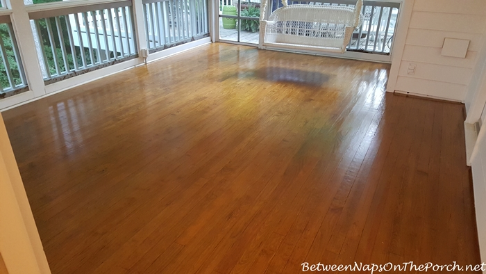 Hardwood Flooring Screened and Varnished