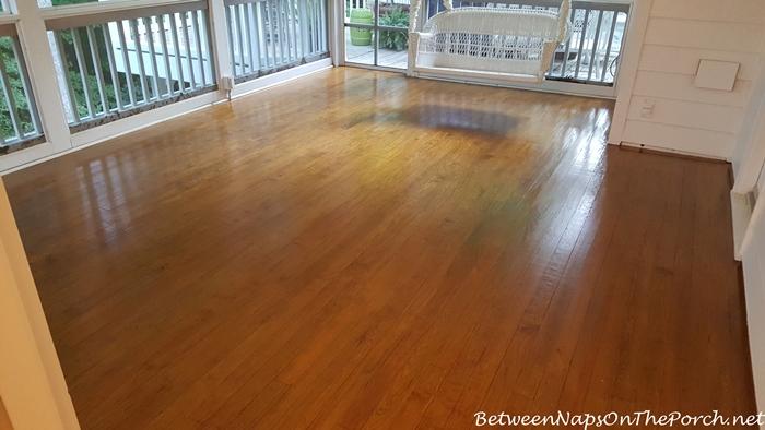 Hardwood Flooring Screened and Varnished