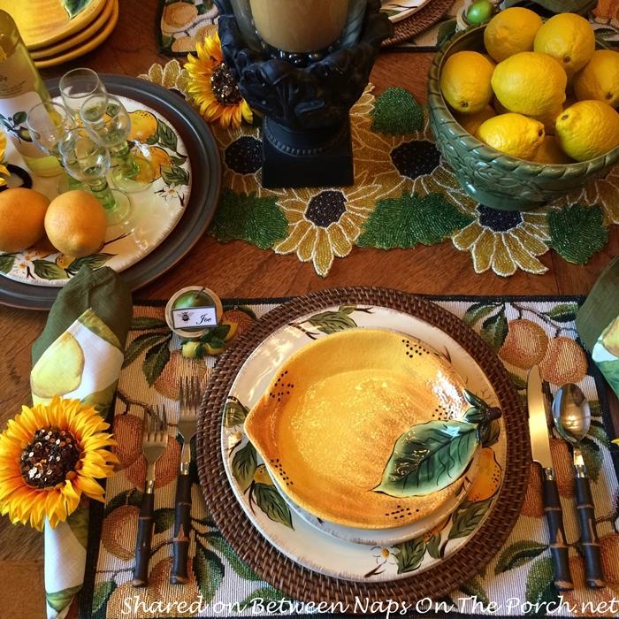 Lemon Plates for Lemon Themed Table