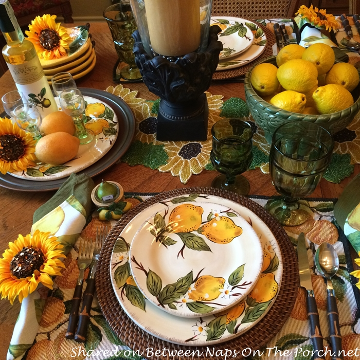 Lemon Themed Dishware, Pier 1