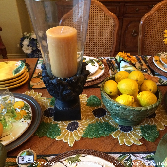 Limoncello Tablescape Centerpiece
