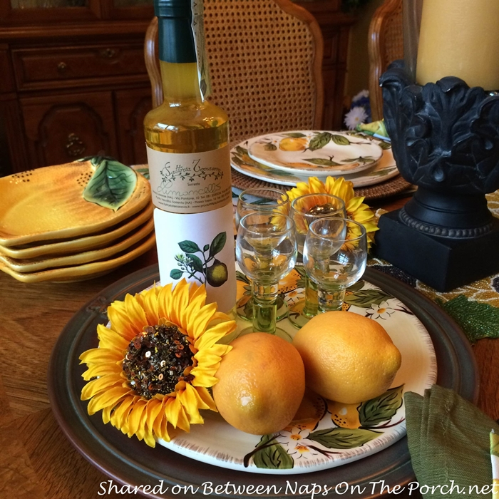 Limoncello for a Lemon-themed Tablescape