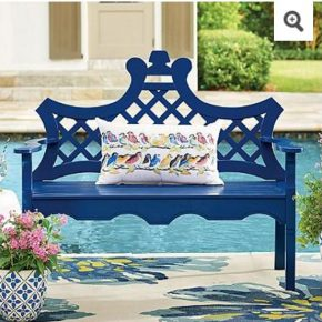 Luciana Bench in Blue