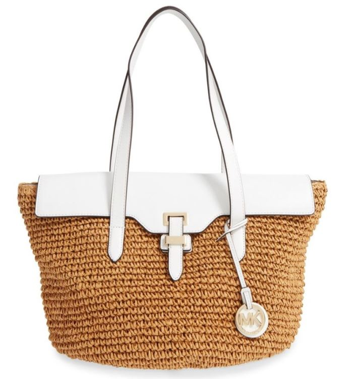 Michael Kors Naomi Straw Bag