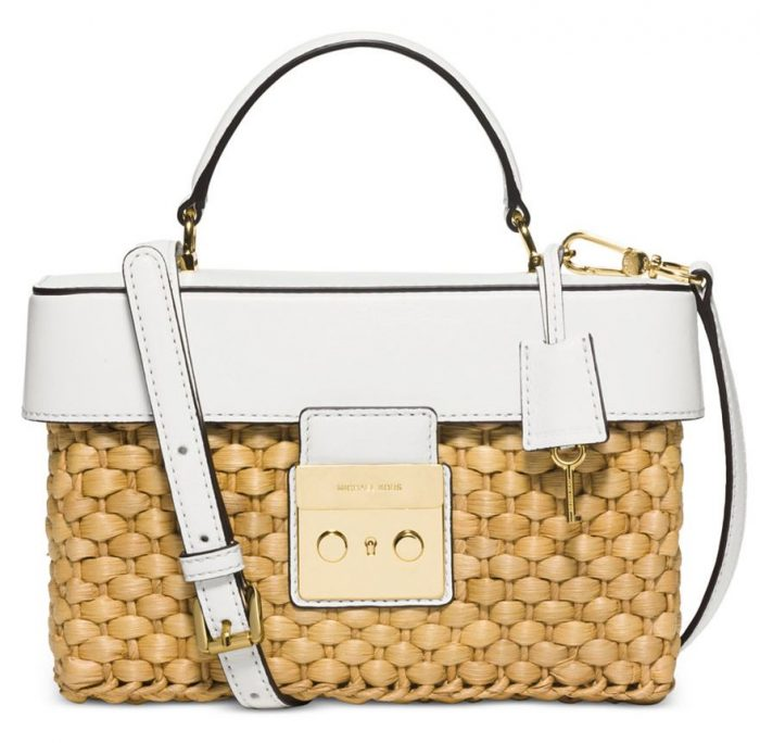 Michael Kors Straw Bag in White for Summer