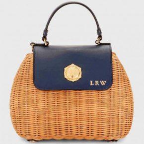 Monogrammed Draper James Overlook Straw Bag