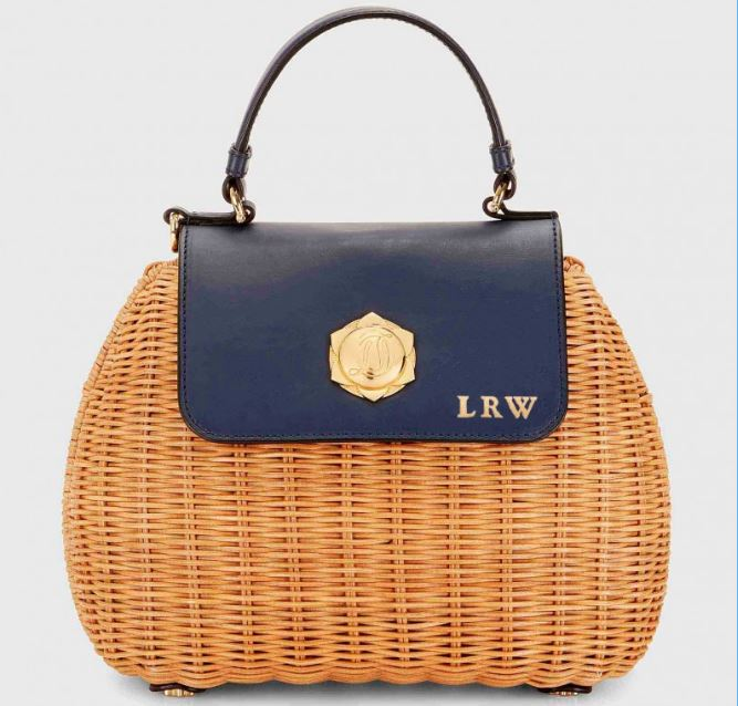 Monogrammed Draper James Overlook Straw Bag