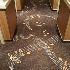 Music-Jazz Themed Carpet, Vantage River Voyager