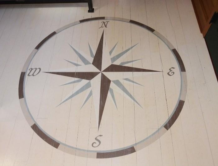 Nautical Painted Floor, Beach Home