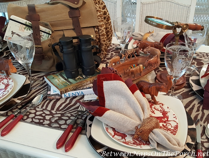 On Safari, An African Safari Themed Table