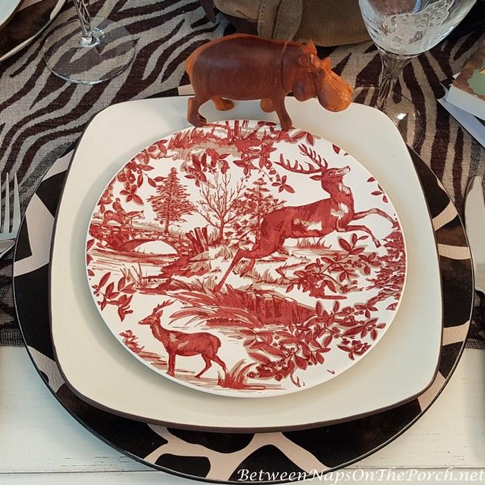 Pottery Barn Alpine Toile Plates