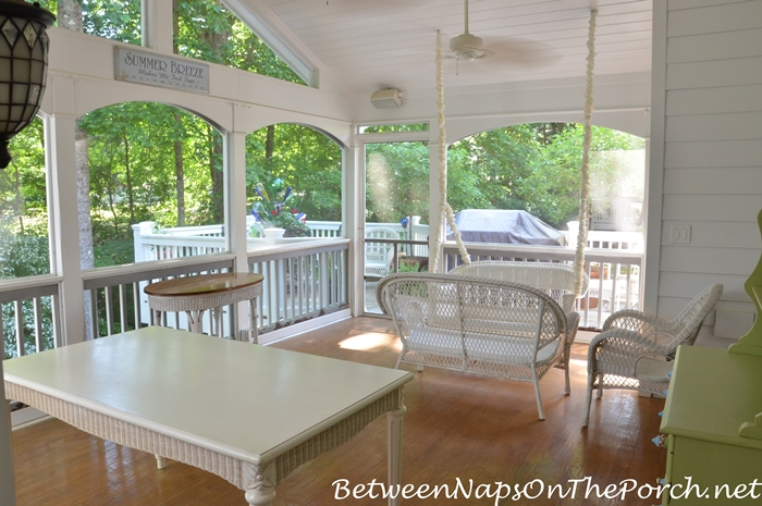 Screened Porch with KDAT Porch Flooring, Marine Varnish