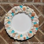 Shell & Sea Glass Chargers for Beach Inspired Dining