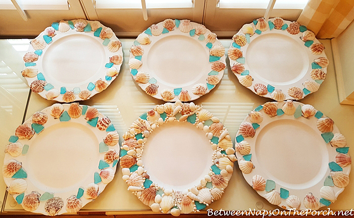 Shell & Sea Glass Charger Plates for Dining