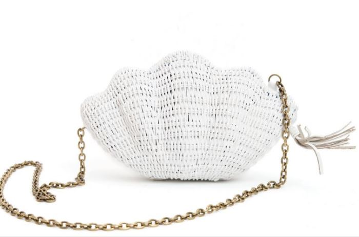 Shell Straw Clutch