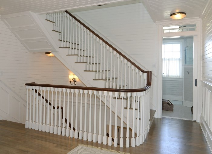 Staircase, Seaside Home in Fenwick, Old Saybrook