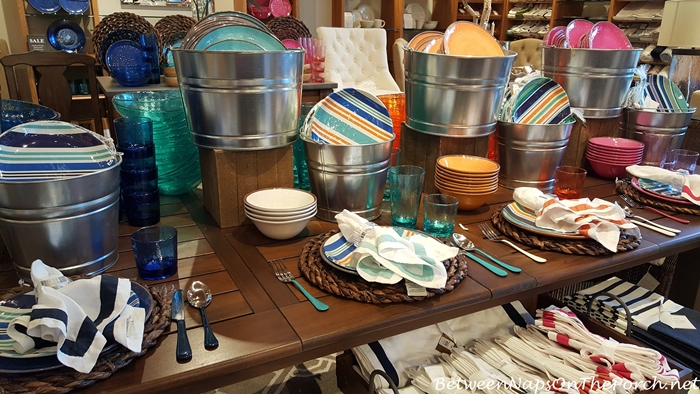 Summer Beach Themed Dinnerware, Pottery Barn 14