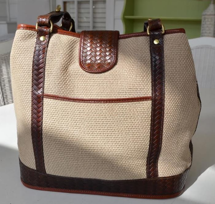 Vintage Brahmin Harbor Bag