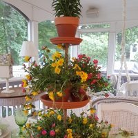 How To Make a Tiered Planter From Terra Cotta Saucers