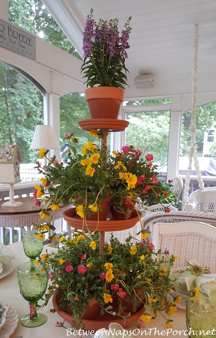 3-Tiered Terra Cotta Plant Stand