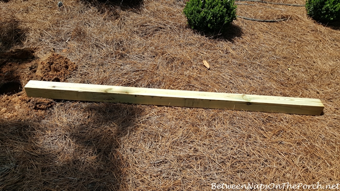 4 x 4 Pressure Treated Pole for Lazy Hill Bird House