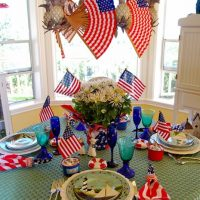 Two 4th of July Table Settings
