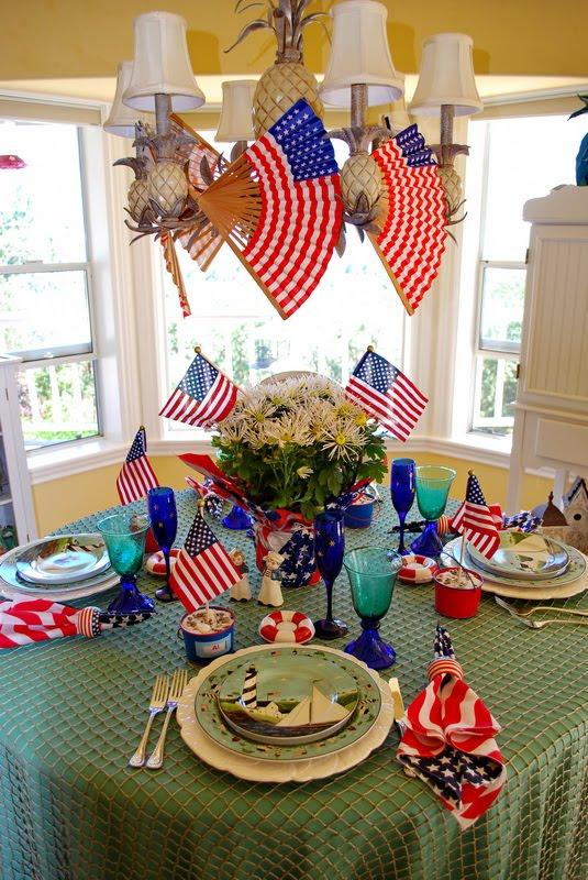 4th of July Table, Sakura, Warren Kimble Colonial Dishware