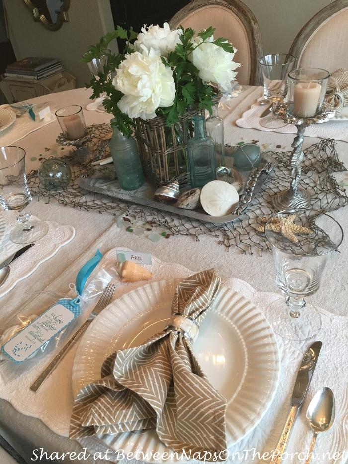 Beach Themed Birthday Table Setting